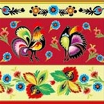 Polish Folk Motif Dinner Napkins (package of 20) - Red  Three ply napkins with water based paints used in the printing process.
