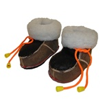 These are beautiful hand sewn fur lined leather baby booties   Ultra light in a variety of colors.  Indoor use only.  Please call or e-mail us with the size required as we have very limited quantities.  Made In Poland.