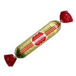 Lubeck, Germany is universally known for its superior chocolate covered marzipan. We offer to all marzipan fans the ultimate delight- a shimmering red-wrapped bar of marzipan enrobed in chocolate.