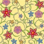 Garden Stars Dinner Napkins (package of 20) - Yellow.  Three ply napkins with water based paints used in the printing process.