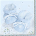 It's A Boy! Dinner Napkins (package of 20).  Three ply napkins with water based paints used in the printing process.