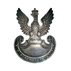 Replica of the Polish Army Insignia from 1935.  Polish crowned eagle with 11 nails in an Amazon shield with  Made in the workshop of Warsaw's finest engraver and medal maker.