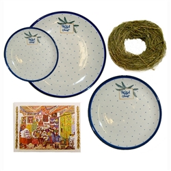 "We special ordered these beautiful dinnerware sets for your Polish Christmas holiday table.  Each plate features the traditional Polish holiday greeting ""Wesolych Swiat""(Happy Holidays).  Perfect for setting your Christmas Eve Wigilia dinner.  Includes Ch"