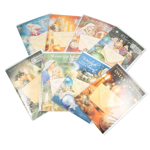 Polish Art Center -Assorted Polish Religious Christmas Cards With ...