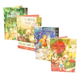 Beautiful assortment of 10 assorted Polish language religious Christmas cards with matching envelopes.  Open each card and a beautiful nativity scene unfolds for display.   Each card is in its own clear plastic sleeve to protect the contents if mailed.