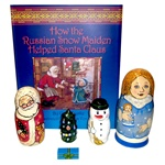 This Christmas book for children 3 and up broadens the reader's (and the listener's) understanding of another culture. It tells the story of a child's self-discovery while it introduces a bit of Russian and a few traditions of a far-away country.