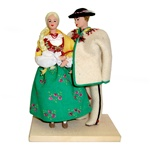 Polish Regional Doll: Goral Couple From Podhale
