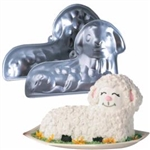 "This is 2 piece 10"" x 7"" deep aluminum baking pan. Complete easy to follow baking and decorating instructions for 3 designs.  Bake a decorate a sensational springtime Easter Lamb for your holiday celebration."