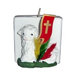 Made in Krakow, these Easter lamb candle holders are made of plaster and hand painted.  