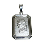 Beautiful Polish Sterling silver (.925) medallion of Pope John Paul II made in Krakow, Poland.  Engraveable on the back.
