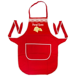 "A perfect gift for that special ""Polka""!  A red kitchen apron, with the words: ""Pierogi Queen"" embroidered on the front panel.  Great for indoor use or that summer barbecue."