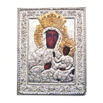 Made in Poland this icon is printed and covered with a beautiful cover of plated copper featuring fine bas-relief. 