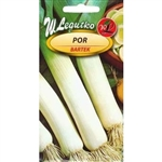 Leek Bartek is a late variety with excellent winter hardiness, also well-wintering in the ground. Cylindrical, medium thick and long, white stem contrasts with dark green leaves.