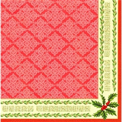 "Polish Folk Art Dinner Napkins (package of 20) - ""Classic Christmas"". Three ply napkins with water based paints used in the printing process."