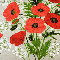 Beautiful printed linen tablecloth with one of Poland's most popular flower.