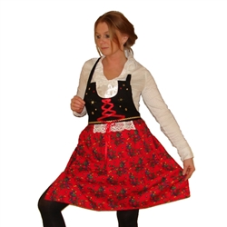 "This beautiful folk apron won first prize in the ""National Competition For Souvenirs From Krakow"", organized by the City of Krakow.  The apron was created based on the characteristic costume of the Krakow folk costume.  Folk elements include hand-sewn seq"