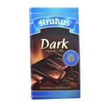 Krakus brand dark chocolate bar made in Poland. 70% cocoa content.