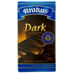 Krakus brand dark chocolate bar made in Poland. 90% cocoa content.