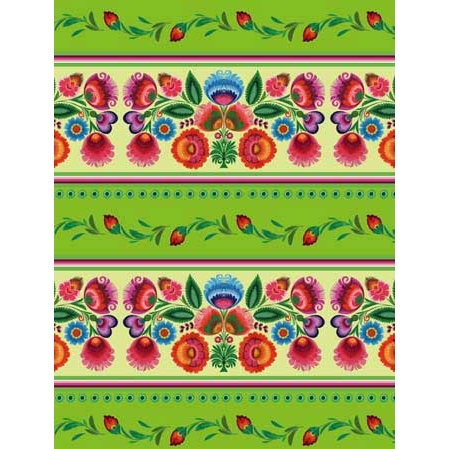 Polish Art Center - Polish Gift Wrapping Paper - Wycinanki Themed ...