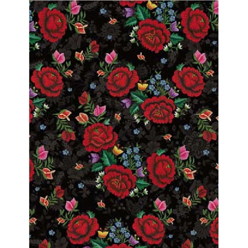 Polish Art Center - Polish Gift Wrapping Paper - Red Roses