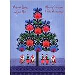 A beautiful glossy Christmas card featuring villagers in Polish Lowicz folk custume carrying a Christmas Szopka (Creche).