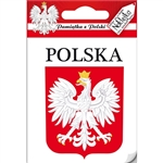 Small waterproof indoor/outdoor sticker perfect for a heritage room display or elsewhere.  The White Eagle (Polish: Orzel Bialy) is the national coat of arms of Poland. It is a stylized white eagle with a golden beak and talons, and wearing a golden crown