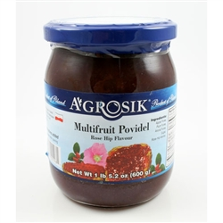 Poland is famous for fruit and berry jams.  Multifruit is used as a spread, in baking and especially as a paczki filling.  Made from Apple, Plum and Aronia fruit.