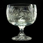 The picture shows 3 different sizes of glasses. The white wine goblet is the crystal glass on the right. This is genuine Polish lead crystal hand cut with a starburst design.