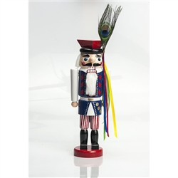 This traditional nutcracker is completely hand made and hand painted.  Made in Poland and painted in an authentic Krakow regional folk costume  Notice the attention to detail and fine workmanship.  Sign up to be notified by e-mail when these arrive (late