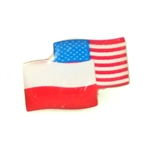 American and Polish Crossed Flag Lapel Pin