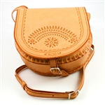 "Darling little hand-crafted leather purse with 23"" adjustable length shoulder strap, from Zakopane Poland."