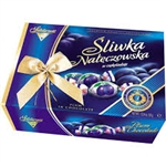 An old Polish specialty with an unforgettable taste. Better than sugar plums! The plums are covered with delicious Polish chocolates and filled with a cocoa cream! These are addictive, you wouldn't be able to eat just one! Each piece is wrapped.  Enclosed