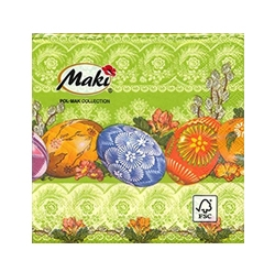 Beautiful cocktail napkins featuring Polish Easter pisanki.