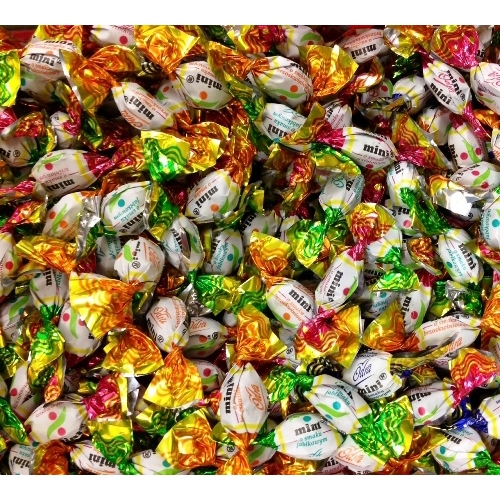 Smarties Chocolate Repeating Pattern Small - Candy fabric ...