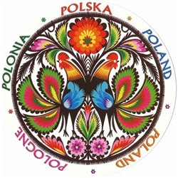 A great example of a traditional round Lowicz papercut.