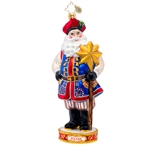 New for 2014. The Krakow Santa represents Poland in the Radko line.
