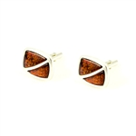 Cognac Amber Cuff Links
