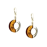 Honey Amber Oval Dangle Earrings