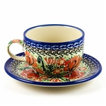 "Designed and signed  by Lucyna Lenkiewicz. The artist has been connected with the Artistic Handicraft Cooperative ""Artistic Ceramics and Pottery"" since 1998.  Since 2002 she has been a pattern designer. Signature Series Pattern: U1669"