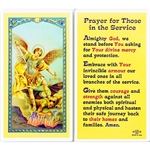 Prayer for Those in the Service - Holy Card.  Plastic Coated. Picture is on the front, text is on the back of the card.