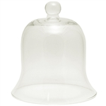 "Genuine hand blown and shaped Polish glass bell shaped dome. Base is 7"" diameter"