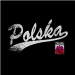 "Classy looking black Polish T-shirt with a Polska Tailswoop design. Polish Eagle Emblem below Poland on the left side too. This shirt is designed to look ""distressed"". For those of you over 50 that means that it was designed to look used."