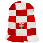 "Sports fans in Poland love to wear this colorful hat. 12"" - 30cm tall. Looks like a giant top hat!  One size fits most. Made in Poland."