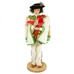 These dolls are perfect, clothed in authentic regional folk costumes, as certified by the Polish Ministry of Culture. These traditional Polish dolls are completely handmade. Notice the fine attention to detail and workmanship.
