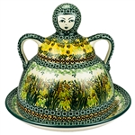 "Pattern designed and signed by master artist. Krystyna Dacyszyn. The artist has been connected with the Artistic Handicraft Cooperative ""Artistic Ceramics and Pottery"" since 1990. A pattern designer since 2002. Unikat pattern U4329."