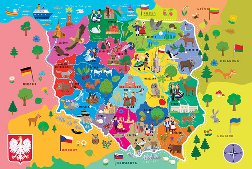 Polish Art Center Map Of Poland Educational Puzzle Mapa - Poland map