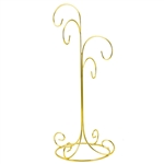 "14"" - 36cm tall"". This stand is suitable for hanging ornaments between 5' and 10"" tall."