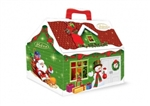 Cute little Christmas house (with handle) filled with approx 15 dark chocolates filled with a ginger plum filling mix.