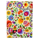 "50 sheet tear-off note pad with a decorated cover in a Polish paper cut design (wycinanka) from the Lowicz region of Poland. ​Size 11 x 15cm - 4.2"" x 6"".​ These make great gifts for crafters, paper cut enthusiasts, artists and anyone Polish."
