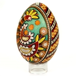 Beautifully designed Ukrainian art egg. Imported from Ukraine. Stand not included.